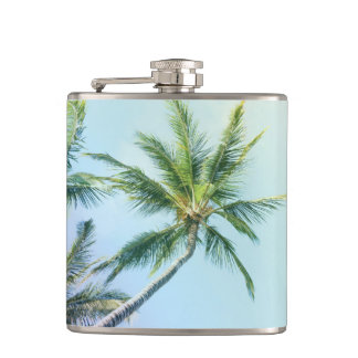 Relaxing Rainbow Color Palms Hip Flask