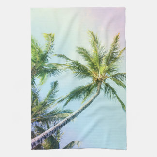 Relaxing Rainbow Color Palms Kitchen Towel
