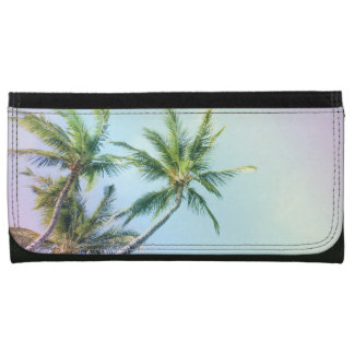 Relaxing Rainbow Color Palms Leather Wallets