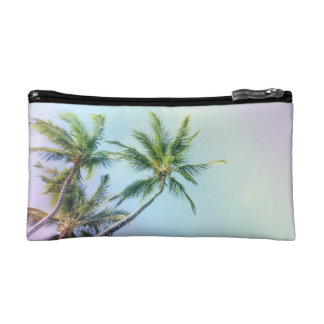 Relaxing Rainbow Color Palms Makeup Bag
