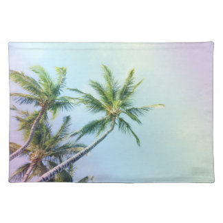 Relaxing Rainbow Color Palms Placemat