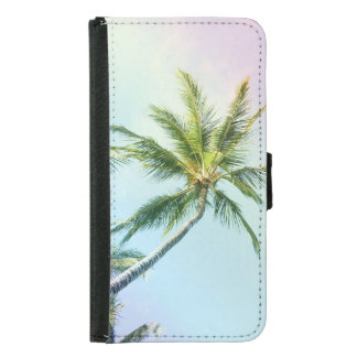 Relaxing Rainbow Color Palms Samsung Galaxy S5 Wallet Case