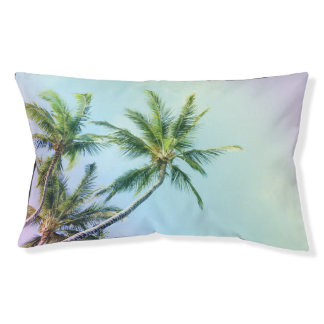 Relaxing Rainbow Color Palms Small Dog Bed