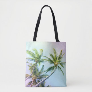 Relaxing Rainbow Color Palms Tote Bag