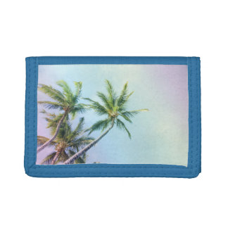 Relaxing Rainbow Color Palms Trifold Wallet
