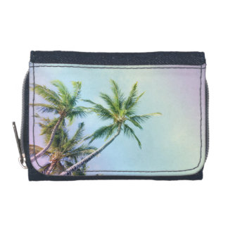Relaxing Rainbow Color Palms Wallet