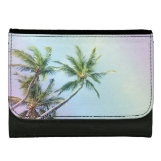 Relaxing Rainbow Color Palms Women's Wallets