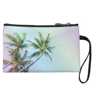 Relaxing Rainbow Color Palms Wristlet