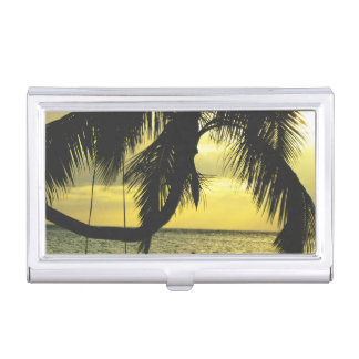Relaxing Romantic Beach Scence Business Card Holders