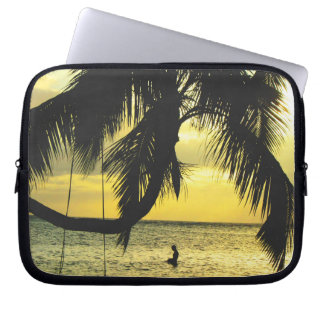 Relaxing Romantic Beach Scence Computer Sleeve