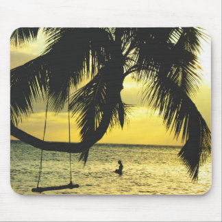 Relaxing Romantic Beach Scence Mouse Pad