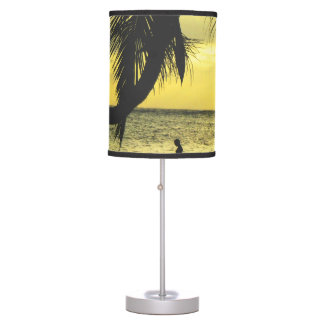 Relaxing Romantic Beach Scence Table Lamp