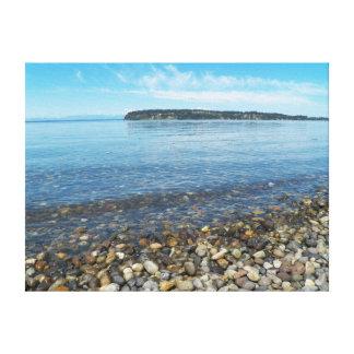 Relaxing Shoreline Photo Canvas Print