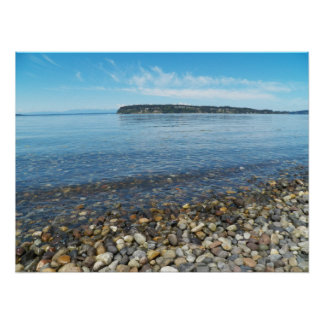 Relaxing Shoreline Photo Poster