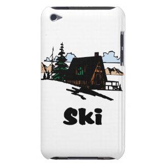Relaxing Ski Lodge iPod Case-Mate Case