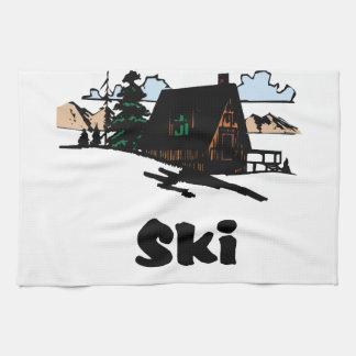Relaxing Ski Lodge Kitchen Towel