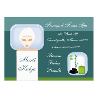 Relaxing Spa Business Card Template