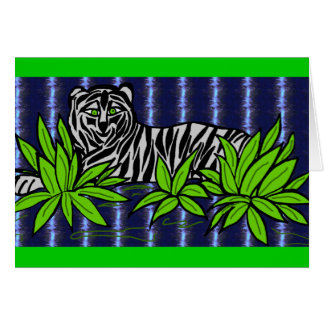 Relaxing Tiger card
