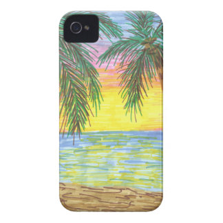 Relaxing Tropical Beach Palm Trees Case-Mate iPhone 4 Cases