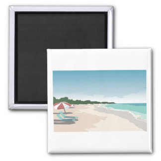 Relaxing Tropical Beach Scene Magnet