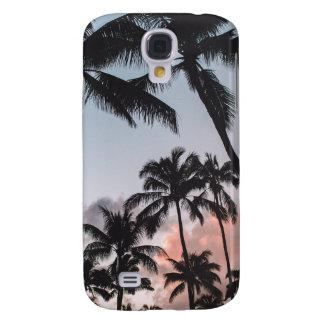 Relaxing Tropical Palm Trees Sunset