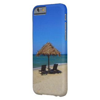 Relaxing Tropical Summer Beach Umbrella Hut Barely There iPhone 6 Case