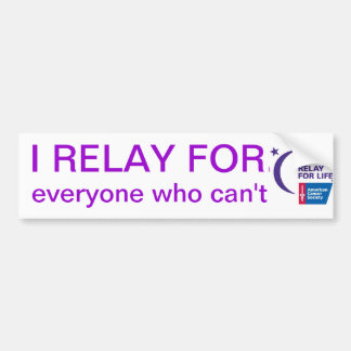 Relay for Life Bumper Sticker