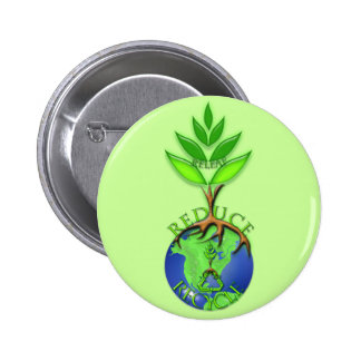 Releaf Reduce Recycle 2 Inch Round Button