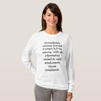 Release tax returns. T-Shirt