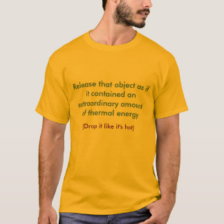 Release that object as if it contained an extra... T-Shirt