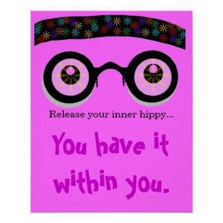 Release Your Inner Hippy Bandana Poster