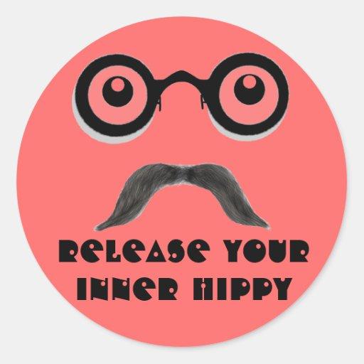 Release Your Inner Hippy Round Sticker