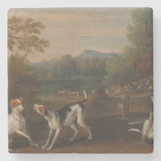Releasing the Hounds by John Wootton Stone Coaster