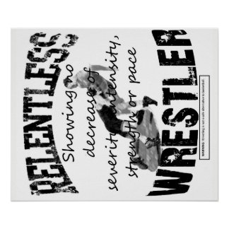 Relentless Wrestler Poster