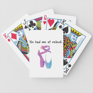 Releve 1 bicycle playing cards