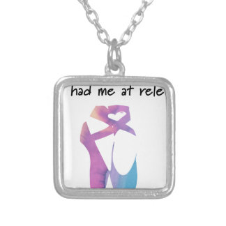 Releve 1 silver plated necklace