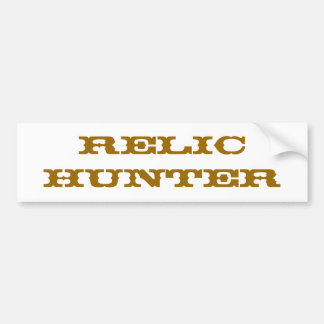 Relic Hunter Bumper Sticker
