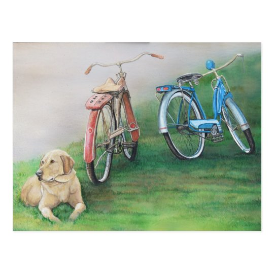 Relics Original Dog Art Postcard