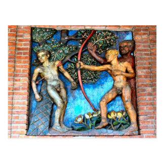 Relief decoration, Oslo City Hall Postcard