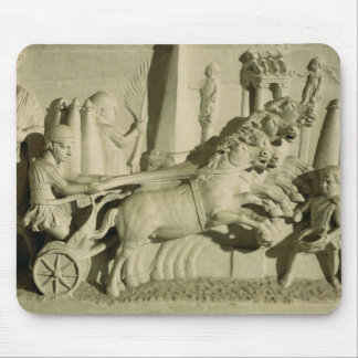 Relief depicting a chariot race mouse pad