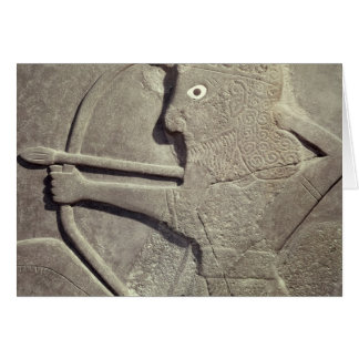 Relief depicting a hunter, from Tell-Halaf, Card