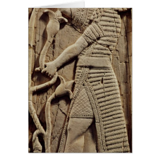 Relief depicting a warrior card