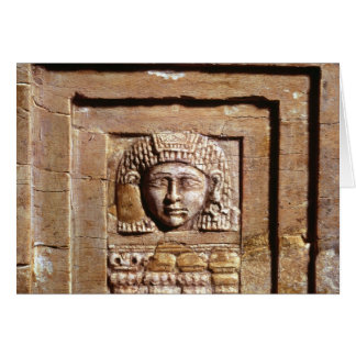 Relief depicting a woman at a window card