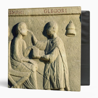 Relief depicting an oculist examining a patient 3 ring binder
