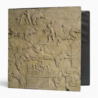 Relief depicting circus games binders