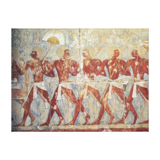 Relief depicting parade in honour of Hathor Stretched Canvas Print