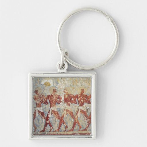 Relief depicting parade in honour of Hathor Keychain