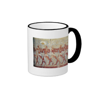 Relief depicting parade in honour of Hathor Coffee Mugs