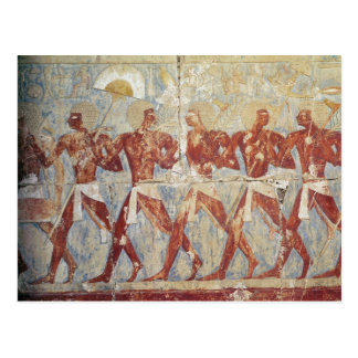 Relief depicting parade in honour of Hathor Postcard