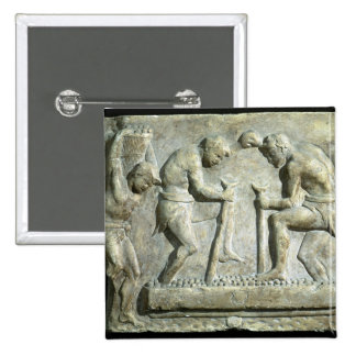 Relief depicting pavers 2 inch square button